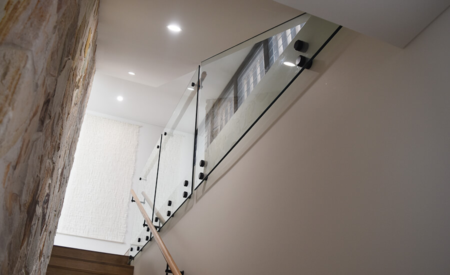 Stairwell frameless balustrades installed in Adelaide